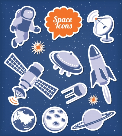astronauts: Space icons set