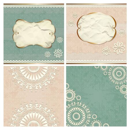 Vintage borders with lace pattern Stock Vector - 18154286