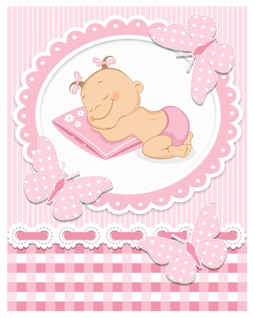 girl sleep: Sleeping baby girl