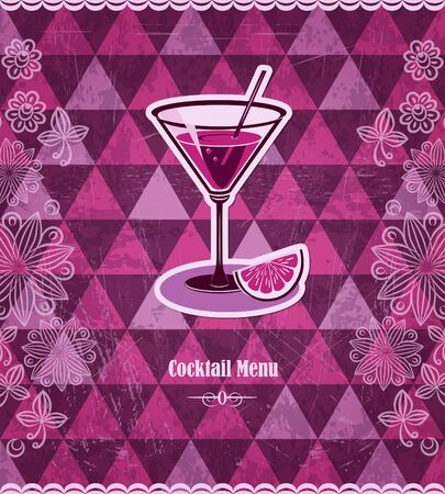 Cocktail vintage mosaic pattern