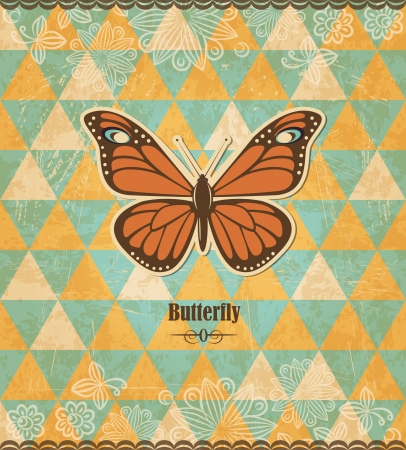 Butterfly vintage mosaic pattern