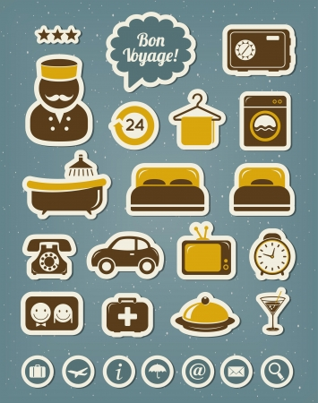 Hotel icons Stock Vector - 19019608