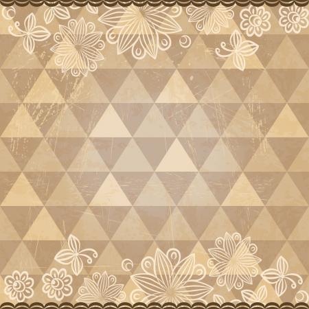 Vintage mosaic pattern Vector