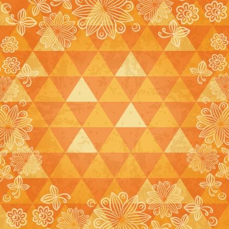 Floral mosaic background Ilustração
