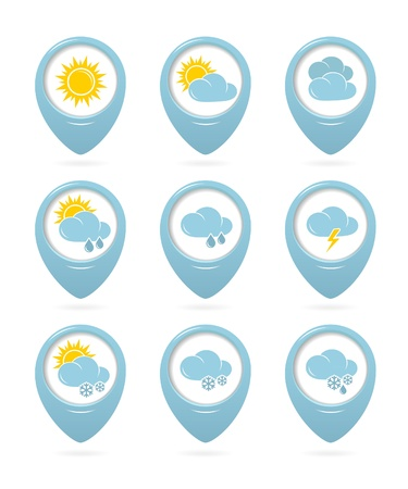 Weather web elements Vector