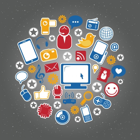 blog design: Social network icons