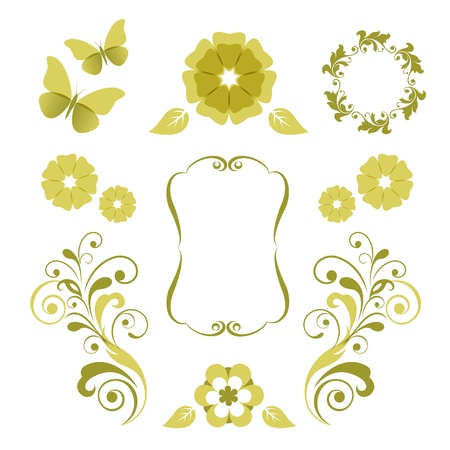 swirl floral: Floral design elements
