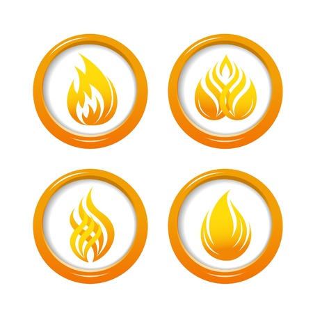 fireballs: Fire web buttons set
