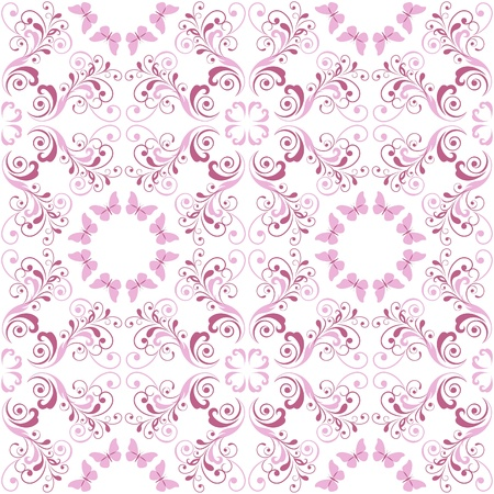 Pink floral seamless pattern Stock Vector - 19978283