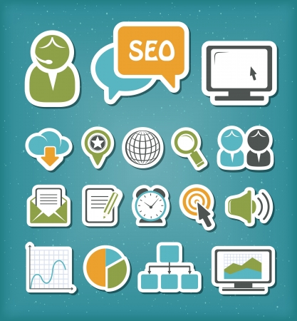 SEO icons set Stock Vector - 19978298