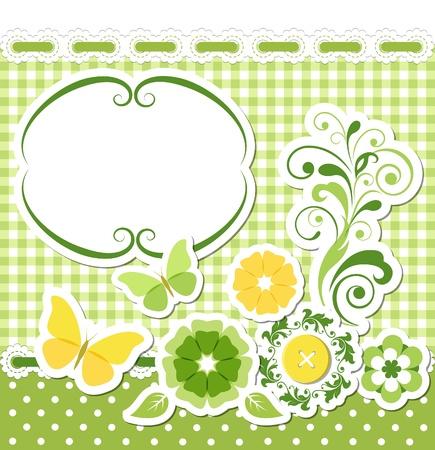 Floral scrapbook green set
