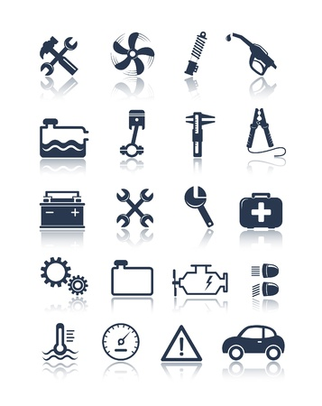 service center: Auto service icons