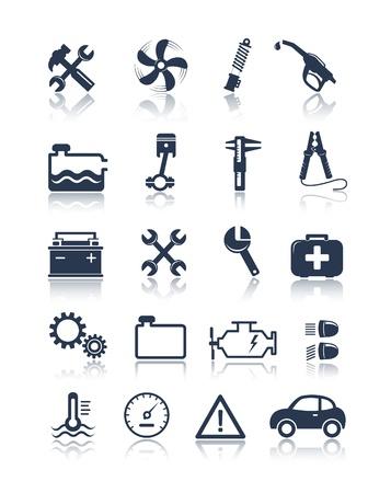car parts: Iconos autos del servicio
