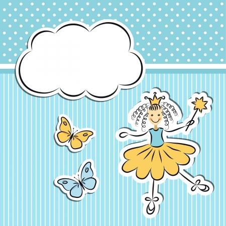 yıldız: Kağıt bulut ve kelebekler ile küçük prenses