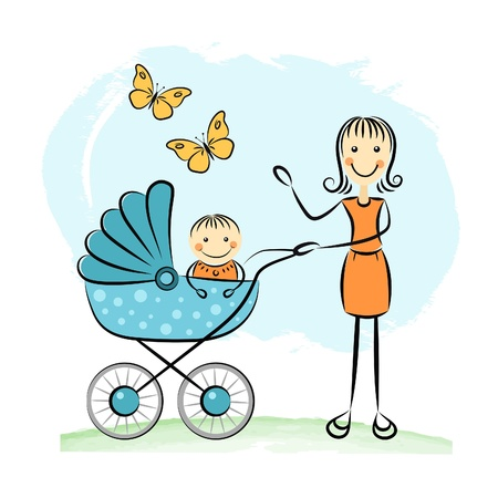 Mother and baby Stock Vector - 20691949