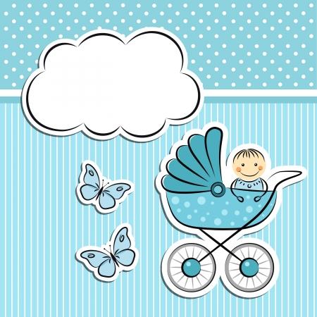 Anuncio de llegada de Baby boy Ilustración de vector