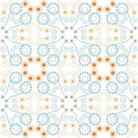 Abstract floral seamless pattern Stock Vector - 20855941