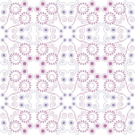 Purple floral seamless pattern Stock Vector - 20855943