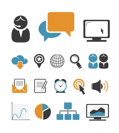 Business icons set Stock Vector - 20855944