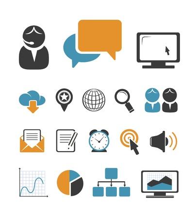 keywords link: Business icons set Illustration