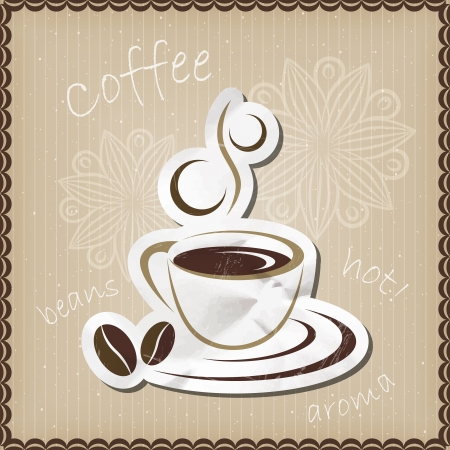 coffee stain: Coffee mug icon