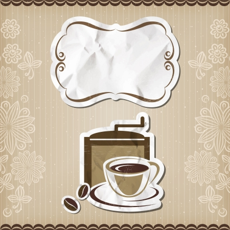 Coffee retro menu Vector