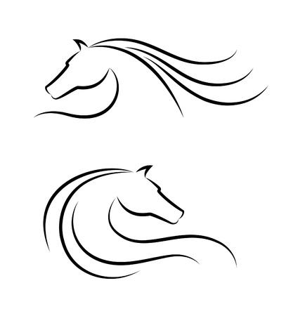 chevaux noir: embl�me de la t�te de cheval