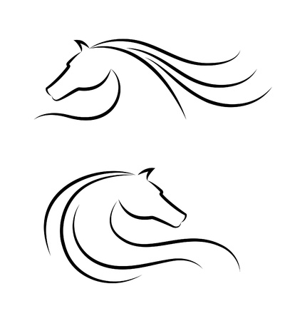 white horse: Horse head emblem