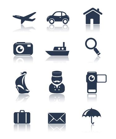 airplane icon: Travel icons set