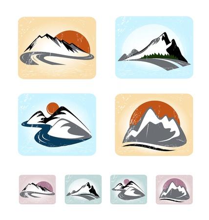Mountains emblem set Stock Vector - 21285011