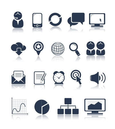 Business and media icons Stock Vector - 21285012