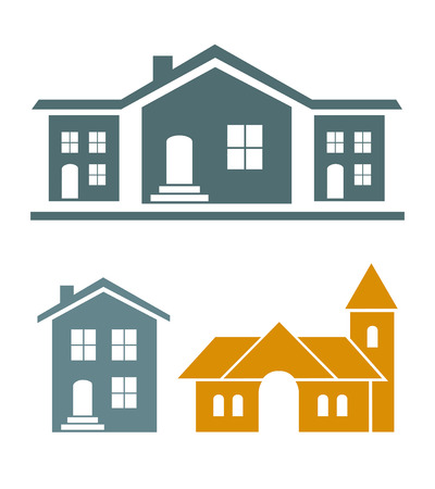 house icon: Real estate vector Illustration