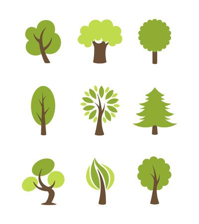 bonsai tree: Tree icons set