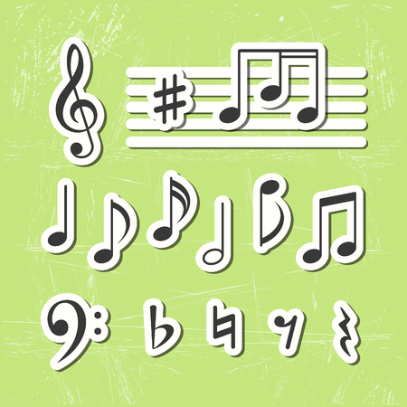 Music notes vector icons Stock Vector - 23208440