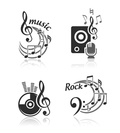 Music vector elements set Vector