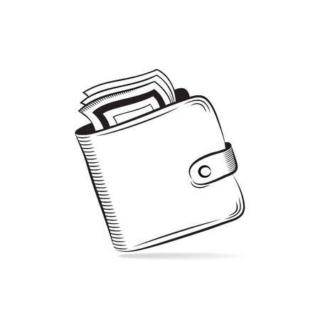 Wallet with dollars vector icon Stock Vector - 23681281