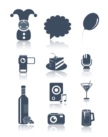Holidays and party symbols Vector