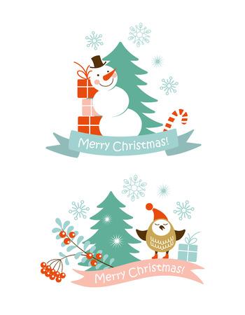 christmas berries: Elementi grafici di Natale Vettoriali