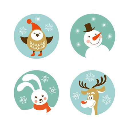 Christmas characters Vector