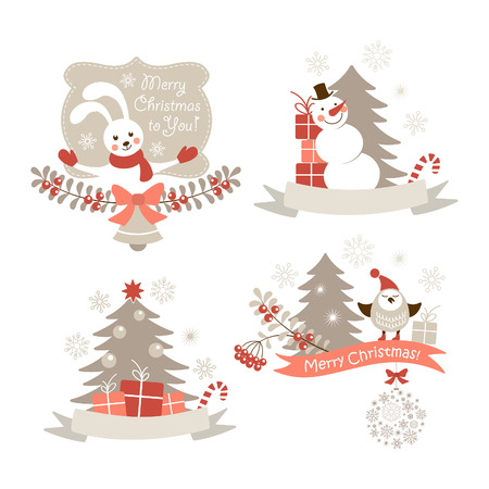 Christmas graphic elements set Vector