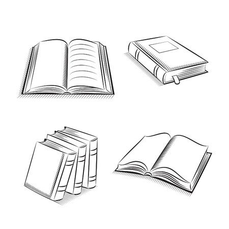 sketch book: Book and notebook sketch set