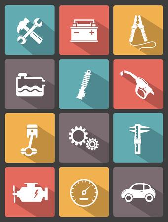 button batteries: Auto service icons