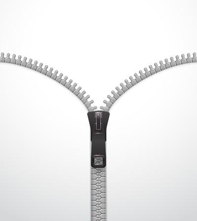 Zipper vector template Illustration