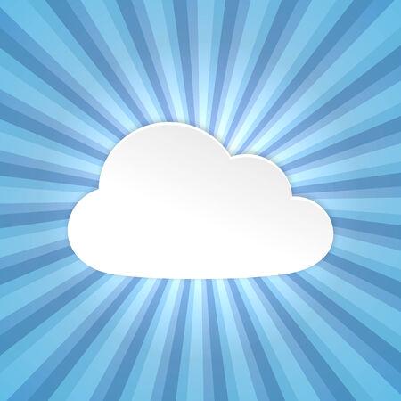 Paper cloud background Vector