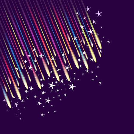 meteor shower: Abstract fireworks background