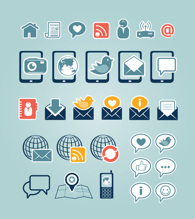 casts: Communication icons Illustration
