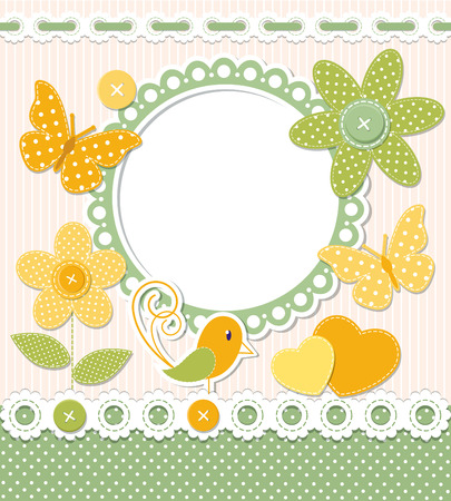 Retro frame and scrapbook elements Vector
