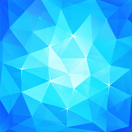 Abstract triangles ice background Vector