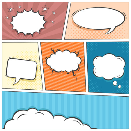 Comic speech bubbles vector background Vector