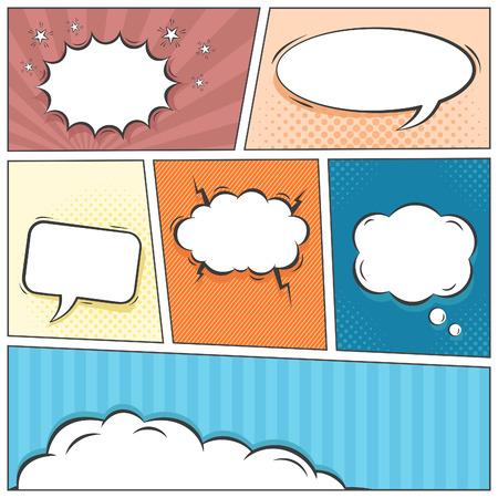 Comic speech bubbles vector background Vector